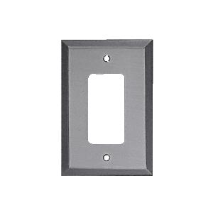 Brushed Nickel Single Designer Metal Mirror Plate