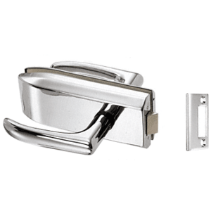 CRL PTH312BS Brushed Stainless Glass Mounted Passage Latch