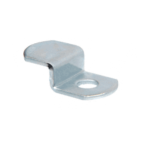 "Zinc Plated Offset Mirror Clip for 1/4"" Glass"