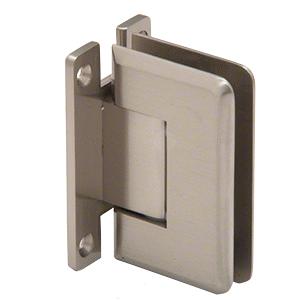 CRL P1N037BN Brushed Nickel Pinnacle 037 Series Wall Mount Full Back Plate Standard Hinge