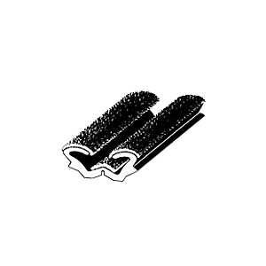 "CRL AS152896 96"" Flexible Flocked Rubber Glass Run Channel for Universal for Buses and RV Windows"