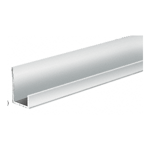 "Brite Anodized Aluminum 1/2"" J-Channel"