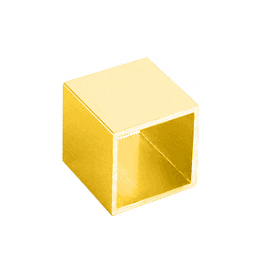 "CRL 3800659 Brite Gold 11'-10"" 1"" Square Tube Extrusion"