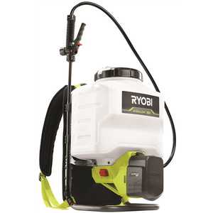 RYOBI P2840 ONE+ 18-Volt Lithium-Ion Cordless Backpack Chemical Sprayer - 2.0Ah Battery and Charger Included