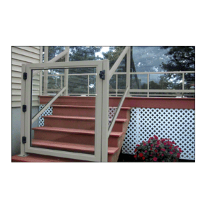 """CRL 2GG3642AGY Agate Gray 36"""" 200 Series Aluminum Railing System Gate for 1/4"""" to 3/8"""" Glass"""