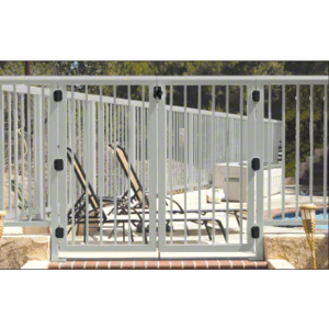 """CRL 35PG3642AGY Agate Gray 36"""" 350 Series Aluminum Railing System Gate With Picket for 1/4"""" to 3/8"""" Glass"""