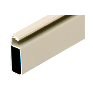 "CRL WSF344BGE Beige 3/4"" x 1/4"" Roll Formed Aluminum Screen Frame - 144"""