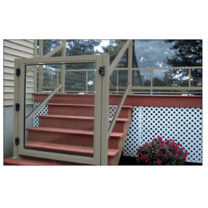 """CRL 1GG3642BGY Beige Gray 36"""" 100 Series Aluminum Railing System Gate for 1/4"""" to 3/8"""" Glass"""