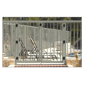 """CRL 3PG3642BGY Beige Gray 36"""" 300 Series Aluminum Railing System Gate With Picket for 1/4"""" to 3/8"""" Glass"""