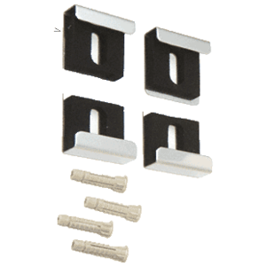 CRL 3061501 Brite Chrome Quartet Mirror Clip Set
