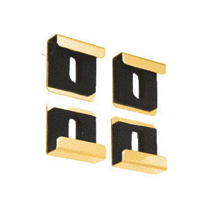 CRL 3061511 Brite Gold Quartet Mirror Clip Set
