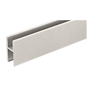 CRL D610BN Brushed Nickel Aluminum 'H' Bar for Use on All CRL Track Assemblies