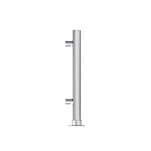 "CRL PP65REBS Brushed Stainless 18"" High 1"" Round PP65 Slimline Series Slant Front Counter/Partition Right End Post"