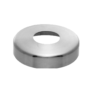 "CRL CR12SPCBS Brushed Stainless Base Flange Cover for 1-1/4"" Schedule 40 Pipe Rail"