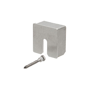 """CRL GRS15SECBS Brushed Stainless Square Stabilizing End Cap for 1-1/2"""" Diameter Cap Railing"""