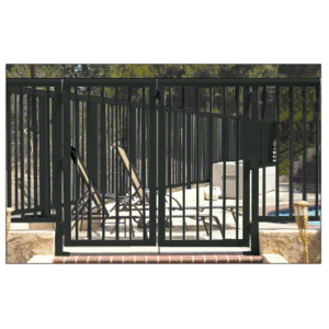 """CRL 1PG3642BL Matte Black 36"""" Aluminum Railing System Gate with Picket for 1/4"""" to 3/8"""" Glass"""