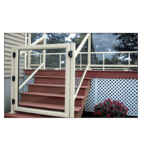 """CRL 1GG36420W Oyster White 36"""" 100 Series Aluminum Railing System Gate for 1/4"""" to 3/8"""" Glass"""