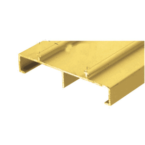 "CRL TH101SG Satin Gold Anodized 2-13/16"" Deep Mirror Door Track - 12' Long"