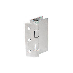 Brushed Nickel Large Wall Mount Set Screw Hinge Pair