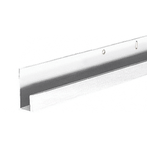 "CRL D636P Polished 1/4"" Standard Aluminum J-Channel"