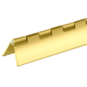 "CRL D667BR Brass Finish 1"" Steel Piano Hinge - 72"""