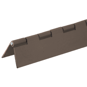 "Bronze Finish 1"" Aluminum Piano Hinge - 72"""