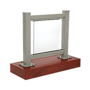 CRL ARS1LBGY Beige Gray 100 Series Aluminum Glass Railing System Large Showroom Display