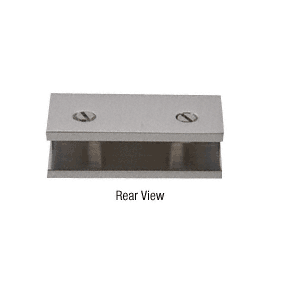 CRL NDC4BN Brushed Nickel No-Drill Fixed Panel Glass Clamp
