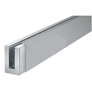 CRL LBSCBS10 Brushed Stainless 3 m Cladding for L56S, L21S, and L25S Series Square Aluminum Base Shoe