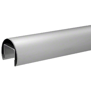 CRL LR20BS 316 Brushed Stainless 50.8 mm Premium Cap Rail for 21.52 or 25.52 mm Glass - 3 m Long