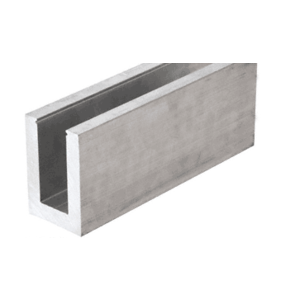 """CRL L21S10D Mill Aluminum L21S Series Standard Square Base Shoe Drilled with 13/16"""" Holes Pattern """"D"""" 118-1/8"""" Length"""