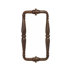 "CRL V1C6X60RB Oil Rubbed Bronze 6"" Victorian Style Back-to-Back Pull Handle"