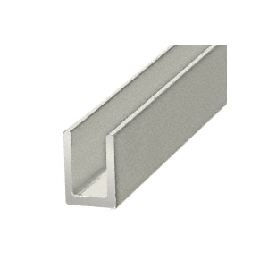 "CRL SDCD516A Satin Anodized 5/16"" Single Aluminum U-Channel"