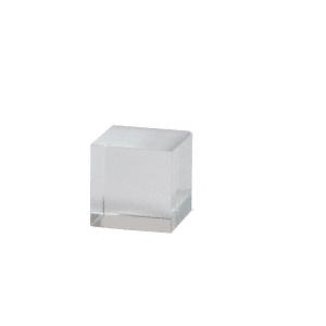 "1/2"" UV Bond Square Crystal Shelf Support"