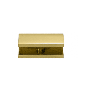 CRL NDC6BR Polished Brass No-Drill Fixed Panel Glass Clamp