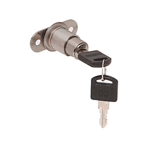 CRL LK55KA Brushed Nickel Keyed Alike Track Plunger Lock