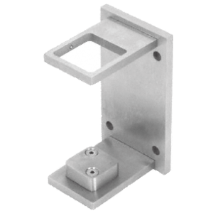 "CRL CR2FBBS Brushed Stainless 2"" Square Standard Fascia Mount Bracket"