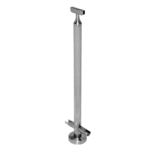 "CRL CR36CKBS Brushed Stainless 36"" CRS Stainless Steel 180 Center Post Kit"