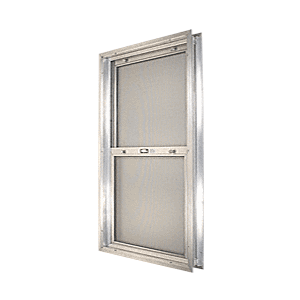 "CRL BAP244 Satin Anodized 18-3/4"" x 30-1/8"" Bel-Air ""Plaza"" Combination Door Unit with Clear Tempered Glass and Mill Frame for 1-3/4"" 2-4 Slab Door"