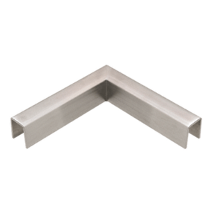 CRL GRLC10HBS Brushed Stainless 90 Degree Horizontal Corner for 11 Gauge Crisp Corner Cap Railings