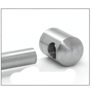 CRL CBR4BS Brushed Stainless Right End Standoff Connector (Radius Back)