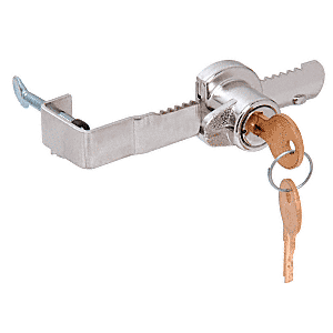 "CRL 962L Chrome ""Adjustable"" Sliding Glass Door Lock with Thumb Screw Adjustment for up to 1/2"" Thick Door"
