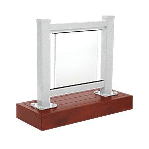 CRL ARS1SS Metallic Silver 100 Series Aluminum Glass Railing System Small Showroom Display