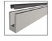 """CRL W7B10 Mill Aluminum 120"""" Small Profile Windscreen Base Shoe for 3/4"""" Glass - Extrusion Only"""