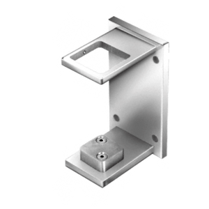 "CRL CR2FBPS Polished Stainless 2"" Square Standard Fascia Mount Bracket"