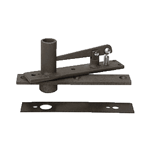 Rixson H345DU Heavy-Duty Long Pivot Pin Center-Hung Top Pivot with Dark Bronze Cover Plate