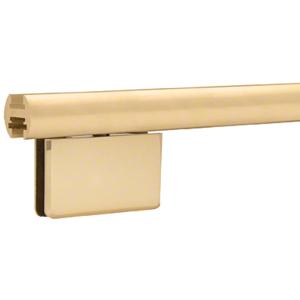 """CRL EHK98SB Satin Brass 95"""" EZ-Adjust Shower Door Header Kit"""