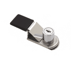 CRL SLGZR14 Chrome SlideGuard Keyed Reinforced Door Lock for Glass, Metal and Plexi
