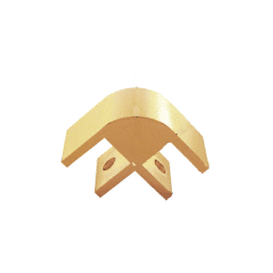 """CRL E212GA Gold Two-Way 90 Degree Standard Connector for 1/2"""" Glass"""