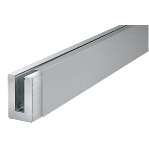"CRL BSCBS106 316 Brushed Stainless 120"" Straight Cladding for B5S Series Standard Square Aluminum Base Shoe"